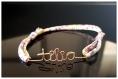 Bracelet enfant  personnalisable, cadeau naissance, anniversaire.. en gold filled or rosé ou or 14 carats. faites-vous plaisir ou offrez