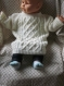 Pull avec torsades bébé 6/9 mois