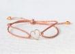 Bracelets d'amitié cœur par 2, 3.....en gold filled or 14 carats. cadeau mariage, témoin, anniversaire, naissance...