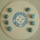 Plaquette de huit boutons recouverts plaq 47