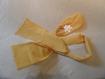 Écharpe  fleur et bandeau en tissus jeune satiné