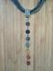 Collier multi liens avec pendentif des 7 chakras