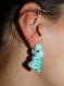 Paire de boucles d'oreilles crocodiles