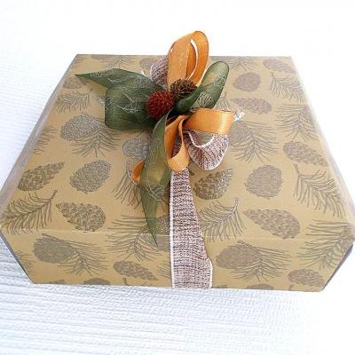 Ho ho ho!!! boite cadeau cartonné noël de 18 x 18 x 6 cm