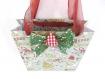 Ho ho ho!!! sac cadeau cartonné noël de 20 x 20 x 6 cm