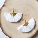 Boucles d'oreilles bahia blanches dorées
