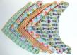 Lot de 5 bavoirs bandana   – vert  / bleu / gris / corail