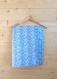 Couverture coton etoile/goutte  -bleu/violet-