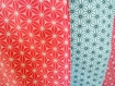 Couverture bébé coton rose et gris  -plaid bébé/enfant fille-