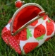 Porte-monnaie fraise