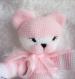 Princesse, chat  et sa souris rose, fait main