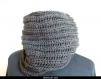 Snood ou écharpe circulaire au crochet masculin