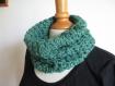 Snood - écharpe circulaire au crochet, laine et acrylique