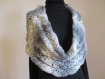 Grand snood gris au crochet