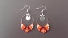 Boucles d'oreilles oranges motif ethnique