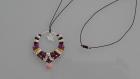 Collier cercle marron/violet  avec perles argentées