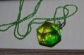 Collier d20 vert translucide