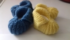 Chaussons bébé tricotés main