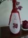 Tablier de bouteille brodé au point de croix : la cuvée du patron. mariage, bapême, anniversaire