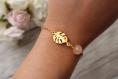 Bracelet doré monstera