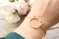 Bracelet doré cat