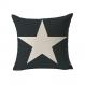 Housse de coussin étoile 45x45 cm