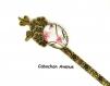 B3.381 bijou femme sakura cherry blossom marque page ouvre-lettres coupe papier fleurs bijou fantaisie bronze cabochon verre papillon fleurs de cerisier d'asie chine japon japonaises (série 1)