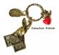 B3.1319 bijou femme lapin alice porte-clés anneau bijou fantaisie bronze cabochon verre le lapin d'alice au pays des merveilles - alice in wonderland