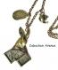 B3.1322 bijou femme lapin alice collier pendentif bijou fantaisie bronze cabochon verre le lapin d'alice au pays des merveilles - alice in wonderland