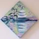 Porte-bijoux -toile peinte - composition zen et son reflet dans l'eau