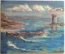 Tableau peinture : côte de l'estérel (mer méditerranée) st raphaël - tour du dramont