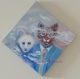 Toile peinte : mariage de matisse le chat avec nougatine, sa souris - couple mixte ou complémentaire