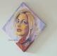 Toile peinte : portrait de louane, chanteuse, musicienne et actrice française.