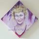 Portrait de cécile de france sur toile peinte (forme losange)