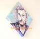Toile peinte : portrait de johnny hallyday (présentation tableau forme losange)