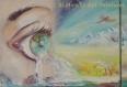 Peinture sur 3 tableaux : vision et approche d'un monde apaisant - paysage zen, serein