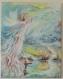 Toile peinte : envol d'une femme déracinée ... vers de nouveaux horizons ..., une autre dimension, ...