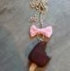 Collier sautoir esquimau au chocolat