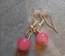 Boucles d'oreilles perles roses