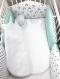 Gigoteuse bébé motif panda, vert d'eau et grise, taille 1 à 8 mois,