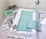 Housse de matelas à langer + serviettes de change, assortie au thème nature tipi cactus et animaux