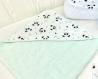 Cape de bain bébé, vert d'eau et panda