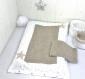 Housse de matelas à langer + serviettes de change, à tissu coton étoiles beiges