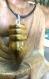 Collier  pointe Œil de tigre & son cordon en cuir noir