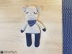 Ernest crochet doudou amigurumi bandana