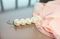 Perle blanche nacré aspect perle de culture perle resine, x 50
