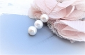 Perle blanche nacré perle de culture grade a 8 mm x 18 perles