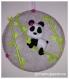 Cadre panda fille en feutrine
