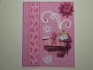 Carte 3d chaton et boite à chaussure papillons et fleur