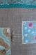 Maison en tissu (n°1) rose bleu lin